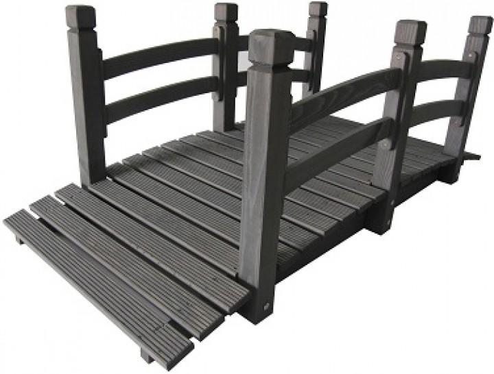 Holzbrücke Mit Geländer Kiefer Anthrazit Garten Expo Börse B2b