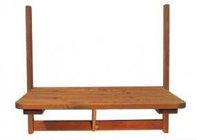 Balkontisch aus Holz 63x40cm, klappbar