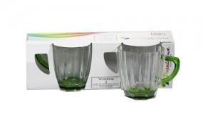 Glas - Gläser mit Henkel 2er Set 245ml grün Pasabahçe