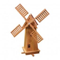 Holz Windmühle 4-eckig, hell gebeizt
