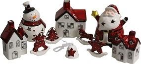 W Weihnachtsdeko Keramik 6 versch. Modelle