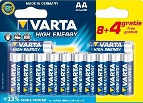 R Varta High Energy AA BLI 8+4