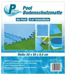 SO Poolmatte 8er Pack 50x50 cm blau