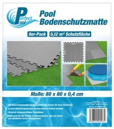 SO Poolmatte 8er Pack 80x80 cm grau