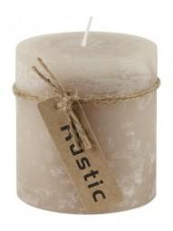 Kerze Rustic 7x7,5cm taupe