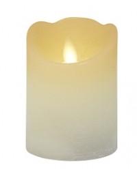 Kerze flackernd Rustik mit Timer 7,5x10 cm, creme