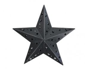 W Metallstern mit Teelichthalter 55x17x58cm grau-washed
