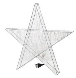 W Stern aus Metalldraht 240 LED Hx78cm