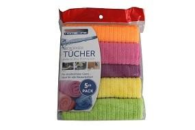 Microfasertücher 5er Pack 30x35 cm, versch. Farben