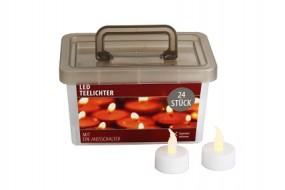Teelichter 24er Box inkl. Batterien