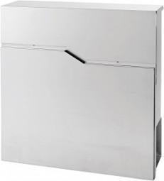 Briefkasten 37x37x10,5 cm Edelstahl