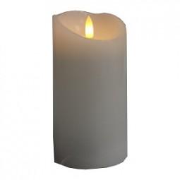Kerze Rustik Echtwachs, flackernd 7,5x10 cm mit Timer