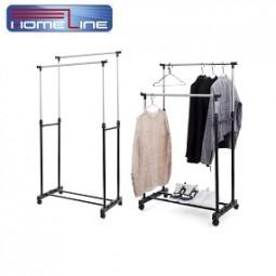 Kleiderständer verstellbar, doppelt 145x43x160 cm