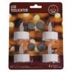 Teelichter 4er Pack mit Timer inkl. Batterien