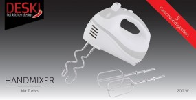 Mixer - Handmixer 200W weiß