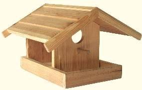 Vogelhaus Futterstelle klein, natur zum bemalen.