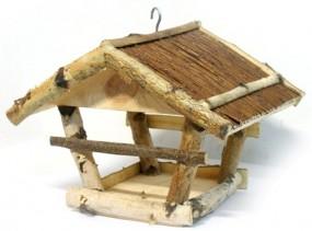 Vogelhaus Futterstelle Weidendach hängen