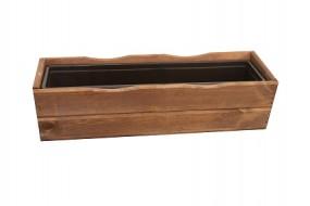 Blumenkasten Holz mit Kunststoffeinsatz 64x21x17cm